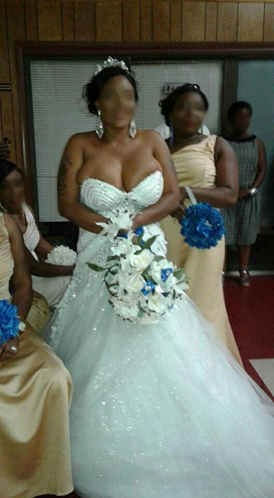 Boobs Almost Falls Off From Wedding Gown [Photo]