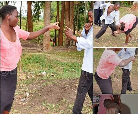 Man And His Wife Fight Each Other In Public Over Infidelity Accusation