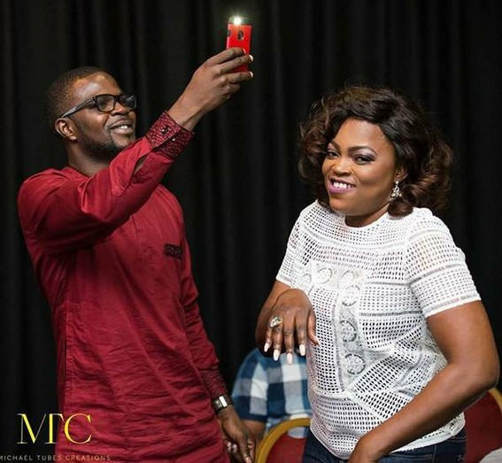 Victoria Inyama With Funke Akindele And JJC Skillz In London