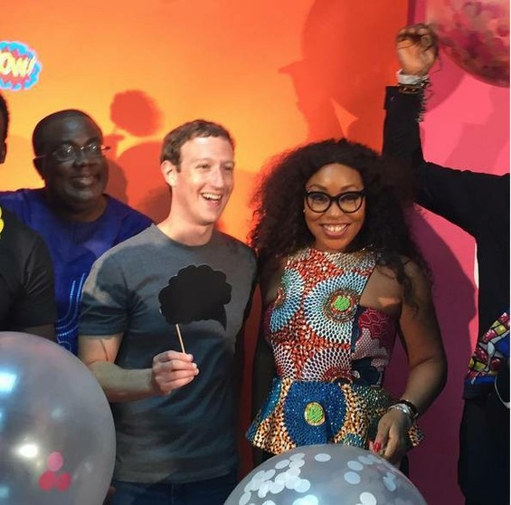 Mark Zuckerberg, Rita Dominic, Basketmouth, Kunle Afolayan, Waje Pictured