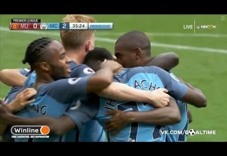 Manchester United vs Manchester City 1-2 2016 All Goals & Highlights