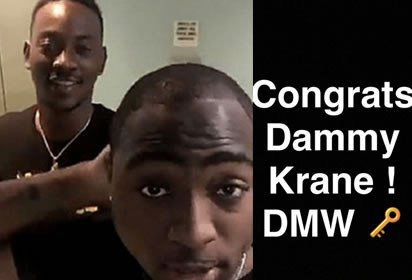 Davido Welcomes Dammy Krane To DMW