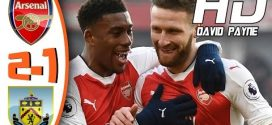 EPL VIDEO:Arsenal 2-1 Burnley 2017 Goals & Highlights