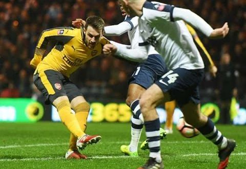 VIDEO: Arsenal Vs Preston 2-1 Fa Cup 2017 Highlights